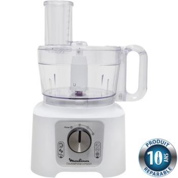 Moulinex FP544110 Double Force Compact blanc/silv