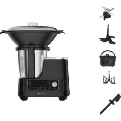 Location Robot cuiseur Moulinex Clickchef noir HF456810 + cuiseur vapeur