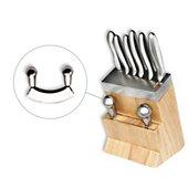 Bloc couteaux Le Couteau Du Chef 5 couteaux + 1 hachoir + 1 fusil