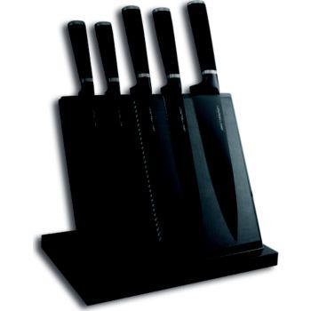 le couteau du chef aimant noir 5 couteaux couteau de cuisine boulanger. Black Bedroom Furniture Sets. Home Design Ideas