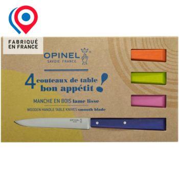Opinel Bon appétit Pop 4 couteaux de table