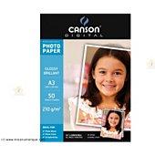 Papier photo Canson BTE 50FL A3 210G PHOT BRILLANT