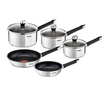 Batterie de cuisine Tefal  Emotion inox induction 5 pcs E823S524
