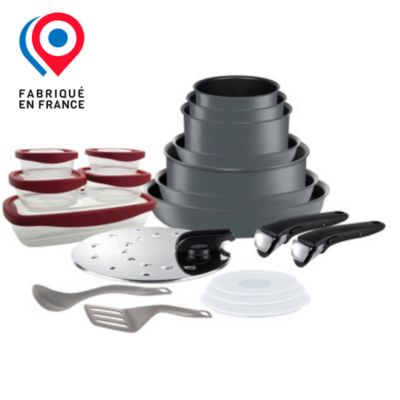 batterie de cuisine tefal ingenio performance 20p induction gris - Batterie De Cuisine Pour Plaque A Induction