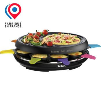 Tefal RE310812 Colormania noire 8 coupelles