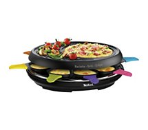 Raclette Tefal  RE310812 Colormania noire 8 coupelles