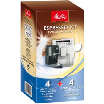 Melitta Espresso Kit 4 détartrants + 4 nettoyant