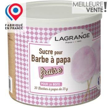 Lagrange Sucre Barbe à papa fraise 500g