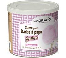 Sucre barbe à papa Lagrange Sucre Barbe à papa fraise 500g