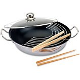 Poêle wok Baumalu  inox diam 32 cm induction 341862