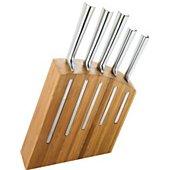 Bloc couteaux Dubost en bambou de 5 couteaux Kimono inox