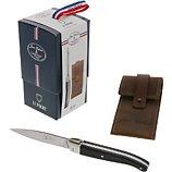 Coffret couteau Dubost  LAGUIOLE LE POCHE avec etui cuir