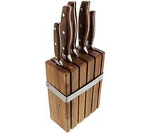 Bloc couteaux Dubost  ROC acacia avec 5 couteaux