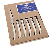 Couteau à steak Dubost  LAGUIOLE A LA FRANCAISE en coffret