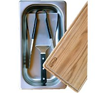 Kit ustensiles ENO  Coffret du chef spatule/pince/planche