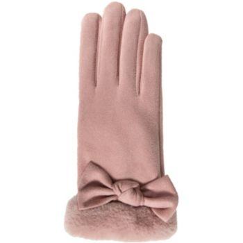 Isotoner Universel écran tactile Fourrure rose
