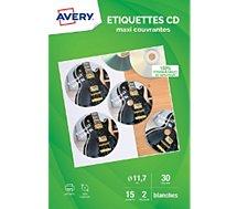 Papier créatif Avery  30 Etiquettes CD