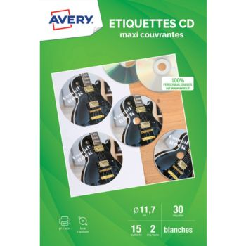 Avery 30 Etiquettes CD