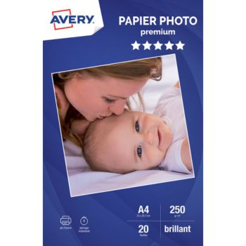 Avery 20 Photos brillantes A4 250g/m²