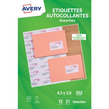Avery Etiquettes adressage 63.5x38.1mm