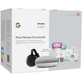 Pack Philips Home mini+Chrome Cast+Hue E27+Smart plug