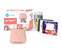 Imprimante photo portable HP  Pack Sprocket 200 Rose+Papier+kit DIY