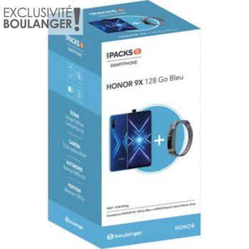 Honor Pack 9X Bleu + Band 5 Sport
