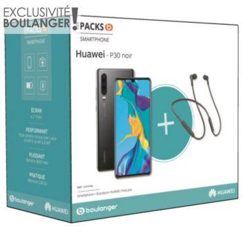 Huawei Pack P30 Noir + Freelace