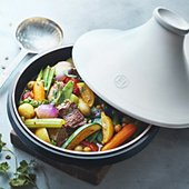 Tajine Emile Henry Delight induction + couvercle blanc