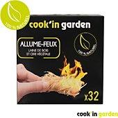 Allume feu Cook'in Garden Allume feu en laine de bois x32
