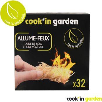 Cook'in Garden Allume feu en laine de bois x32