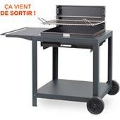 Barbecue charbon Le Marquier + chariot Vintage Montory Acier