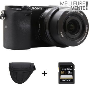 Sony A6000 + 16-50mm + Etui + SD 8Go