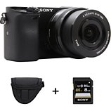 Appareil photo Hybride Sony  A6000 + 16-50mm + Etui + SD 8Go