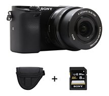 Appareil photo Hybride Sony  A6000 + 16-50mm + Etui + SD 8Go