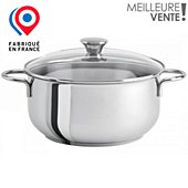 Faitout Cristel Master 26 cm induction poignee fixe