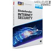 Logiciel antivirus et optimisation Bitdefender Internet Security 2019 2 ans 5 PC