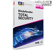 Logiciel antivirus et optimisation Bitdefender Total Security 2019 2 ans 10 appareils