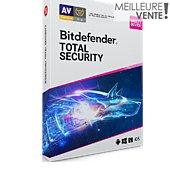 Logiciel antivirus et optimisation Bitdefender Total Security 2020 - 2 ans - 10 postes