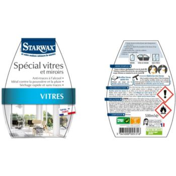 Starwax SPECIAL VITRES ANTI-TRACES ALCOOL 500ml