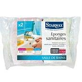 Eponge Starwax EPONGES SANITAIRES LOT DE 2
