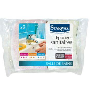 Starwax EPONGES SANITAIRES LOT DE 2