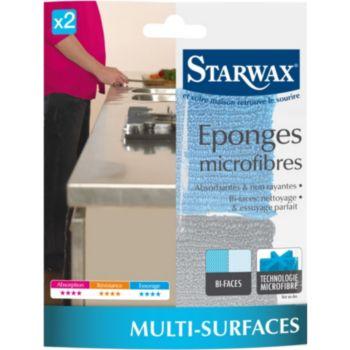 Starwax EPONGES MICROFIBRES X2