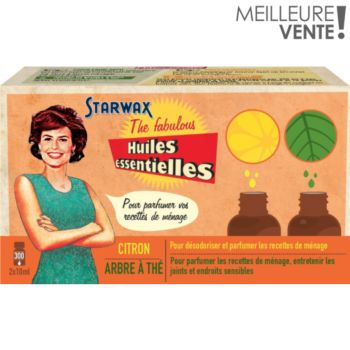 Starwax The Fabulous 2 Huiles essentielles Citron / tea tree