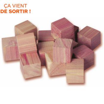 Compactor de 16 Cubes en cèdre naturel