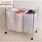 Bac à linge Compactor à linge 3 compartiments