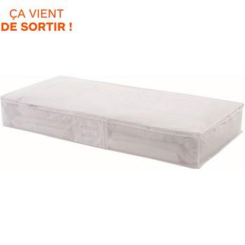 Compactor dessous de lit blanc translucide