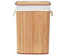 Panier à linge Compactor  Rectangulaire pliable Bambou Nature