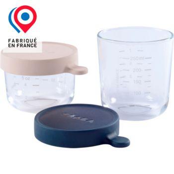 Beaba 2 verre 150ml pink +250ml dark blue