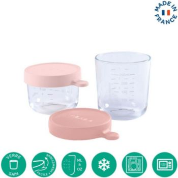 Beaba 2 verre 150ml pink +250ml old pink